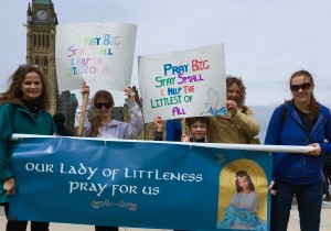 Our Lady of Littleness on Parliament Hill!