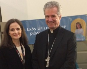 Our Lady of Littleness with Archbishop Lepine (2)